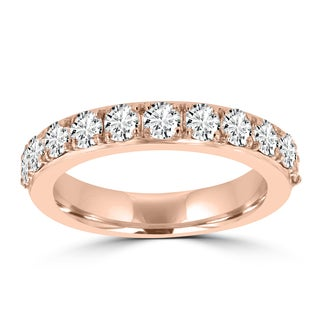 La Vita Vital 14k Rose Gold Diamond 1 1/4ct TDW Wedding Band (VS-SI1, G-H)