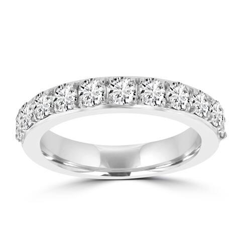 La Vita Vital White Gold Diamond 1 1/4ct TDW Wedding Band - White G-H