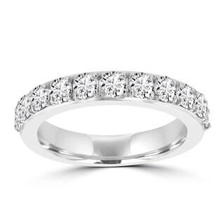 La Vita Vital 14k White Gold Diamond 1 1/4ct TDW Wedding Band - White G-H