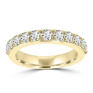 La Vita Vital 14K Yellow Gold 1.25ct TDW Diamond Wedding Band - White G-H|https://ak1.ostkcdn.com/images/products/13253174/P19966629.jpg?impolicy=medium