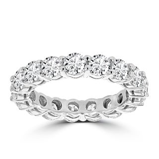 La Vita Vital 14K White Gold 4ct TDW Round Diamond Wedding Band (VS-SI1, G-H)
