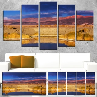 Designart 'Beautiful Northern Argentina View' Oversized African Landscape Canvas Art