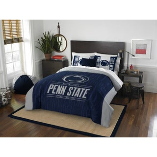 The Northwest Company Penn State Modern Take Blue and Grey Polyester Full/Queen 3-piece Comforter Set