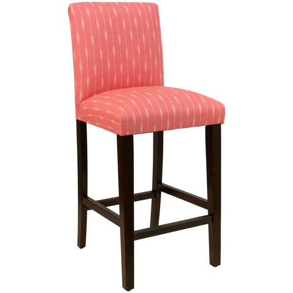 Skyline Furniture Sprint Stripe Coral Bar Stool ...