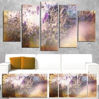 Designart 'Summer Pasture with Purple Flowers' Extra Large Landscape Canvas Art