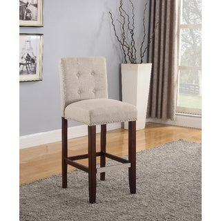 Ethan Natural Linen 30-inch Barstools (Set of 2)
