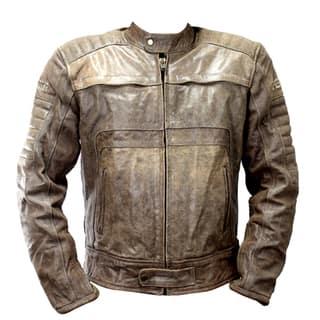 Perrini Men's Brown Genuine Buffalo Leather Motorbike/Biker Jacket|https://ak1.ostkcdn.com/images/products/13253339/P19966861.jpg?impolicy=medium