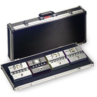 Stagg UPC-688 Black ABS, Hook and Loop, and Chrome Extra-large Hard Case for Guitar Effect Pedals