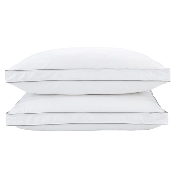 Maison Luxe 400 Thread Count Damask Cotton Gusseted Bed Pillow