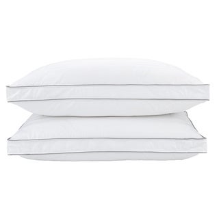 Maison Luxe 400 Thread Count Damask Cotton Gusseted Bed Pillow (2 options available)