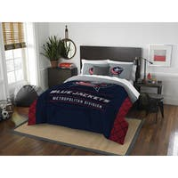 The Northwest Company NHL Blue Jackets Draft Blue and Red Full/Queen 3-piece Comforter Set