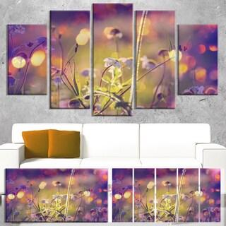 Designart 'Beautiful Flowers in Meadow' Floral Canvas Art Print