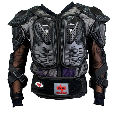 Defender Perrini Black CE-approved Full-body Armor Motorcycle Jacket