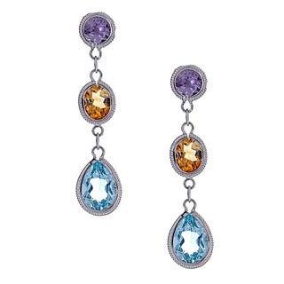 14k multi semi precious earring