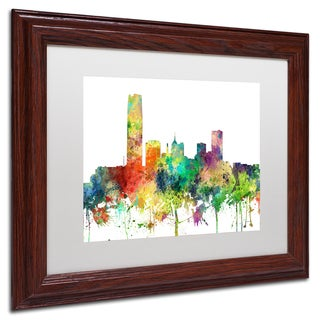 Marlene Watson 'Oklahoma City Oklahoma Skyline SP' Matted Framed Art