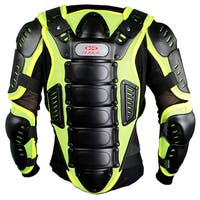 Defender Perrini Green CE Approved Night Visibility Full Body Armor Motorcycle Jacket
