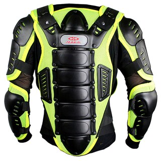 Defender Perrini Green CE Approved Night Visibility Full Body Armor Motorcycle Jacket (4 options available)