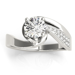 Transcendent Brilliance 14k White Gold 5/8ct TDW Diamond Shank Engagement Ring (G-H, VS1-VS2)