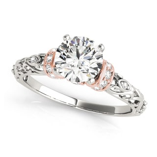 Transcendent Brilliance 14K Gold 5/8ct TDW Diamond Petite Vintage Style Engagement Ring (G-H, VS1-VS2)