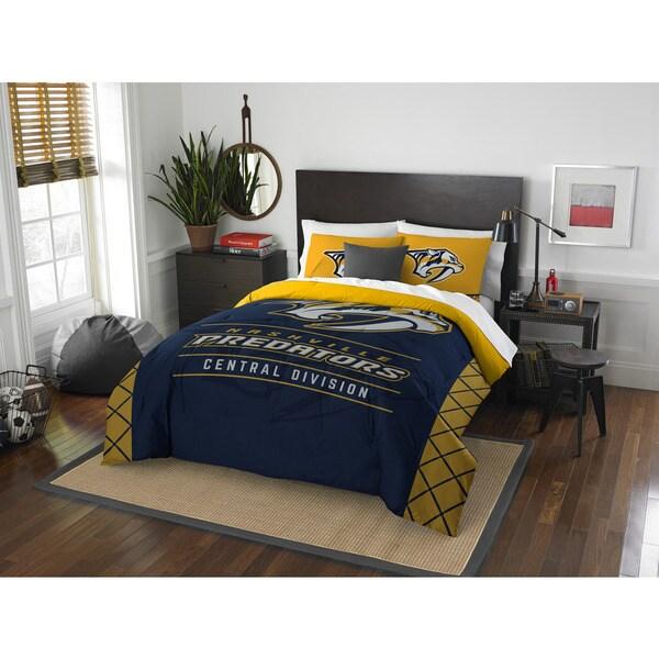 The Northwest Company NHL Nashville Predators Draft Full/Queen 3-piece Comforter Set
