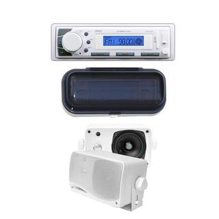 Pyle KTMRGS53 Marine In-Dash Receiver with AM/FM Radio/ AUX Input SD/ USB Memory Reader