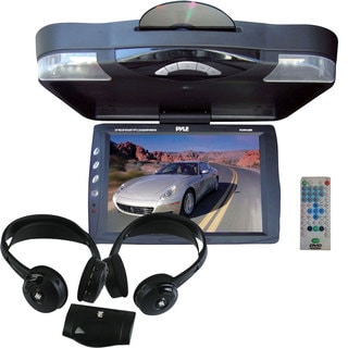 Pyle KTMVGST73 14.1-inch Roof Mount TFT-LCD Monitor with Built-in DVD Player