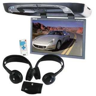 Pyle KTMVGST72 19-inch Flip Down with Built-in DVD/ SD/ USB Player with Wireless FM/ Modulator and IR Transmitter