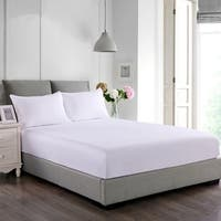 Nanofiber Fitted Mattress and Pillow Protector Set - White