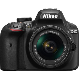 Nikon D3400 DSLR Camera with 18-55mm Lens (Black)