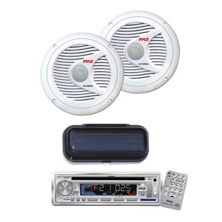Pyle KTMRGS58 AM/FM-MPX IN -Dash Marine CD/ MP3 Player/ USB and SD Card Function150 Watts