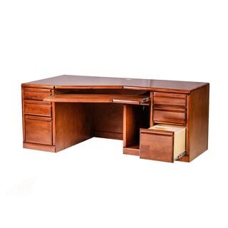 Forest Designs Bullnose Alder Angled Computer Desk