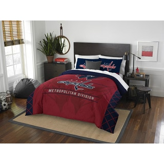 The Northwest Company NHL Washington Capitals Draft Full/Queen 3-piece Comforter Set