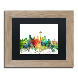 Marlene Watson 'Seattle Washington Skyline SP' Matted Framed Art