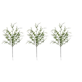 Green Plastic and Glitter 26-inch Tea Leaf Christmas Spray (Pack of 3)