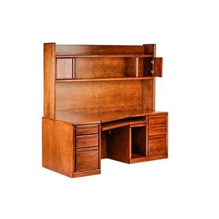 Forest Designs Bullnose Alder Angled Computer Desk and Hutch