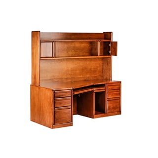 Forest Designs Bullnose Alder Angled Computer Desk and Hutch