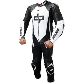 Perrini Multicolored Leather 1-piece Motorcycle Racing Suit