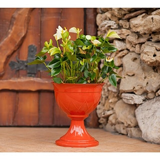 Lilia Urn Flower Pot (Set of 3) (Jade), Blue (Plastic) #U...