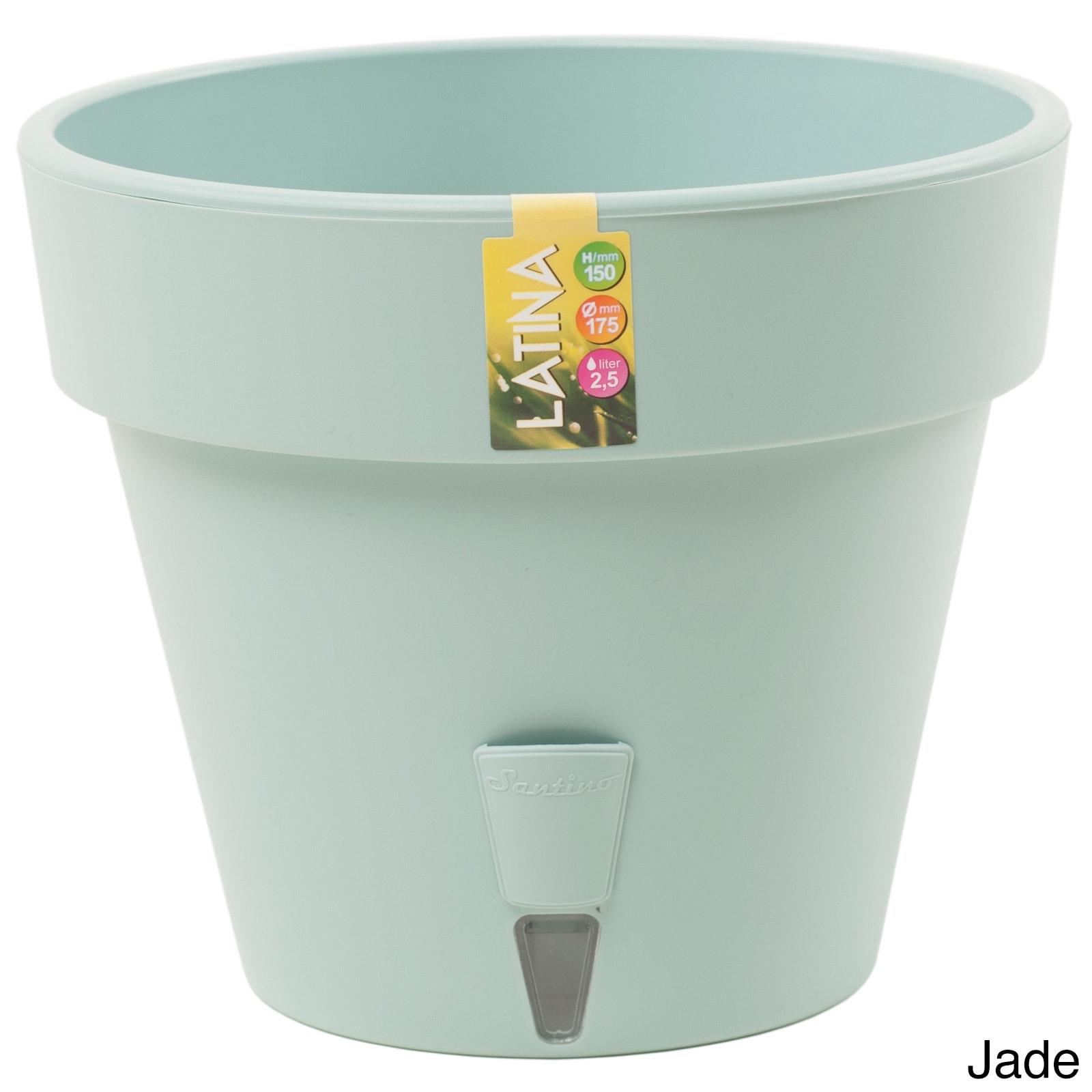 Latina Self-Watering 7.9-inch Planter (Set of 3) (Jade), ...