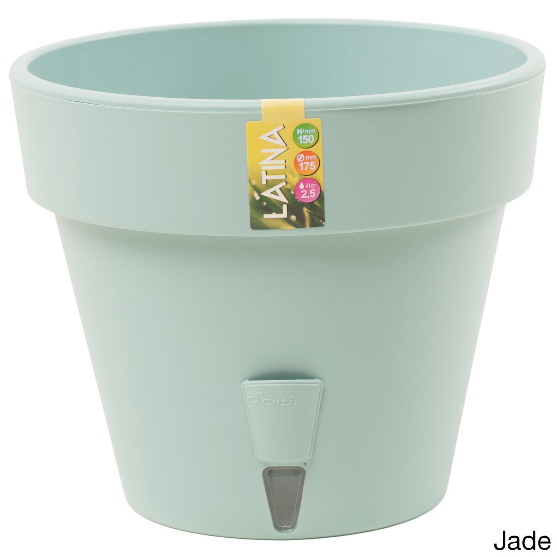 Latina Self-Watering 6.9-inch Planter (Set of 3) (Jade), ...