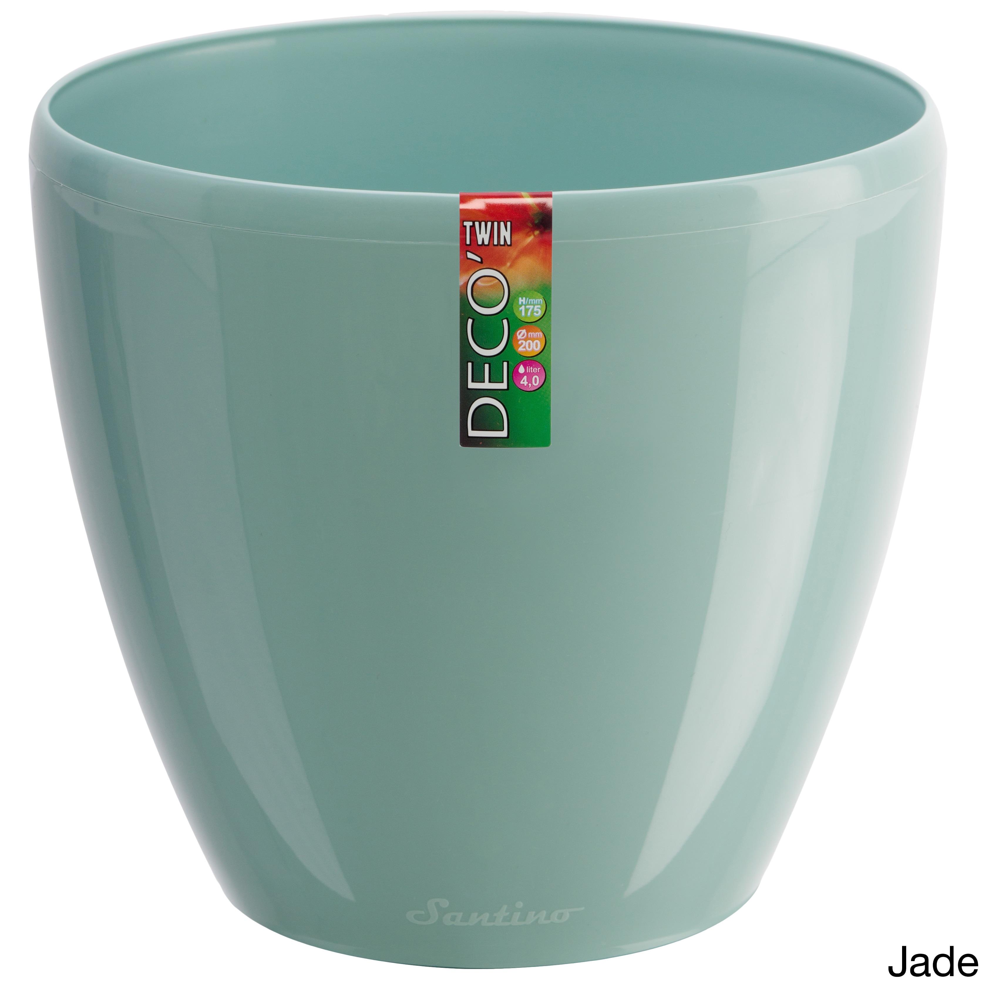 Deco Self-Watering 7.9-inch Planter (Set of 3) (Jade), Bl...