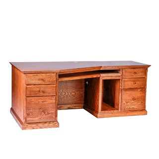 Forest Designs Traditional Wooden 74W x 29H x 35D Angled Computer Desk