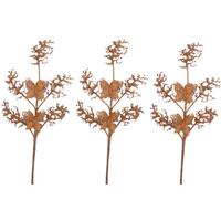 Copper Plastic 30-inch Glitter Coral and Butterfly Christmas Sprays (Pack of 3)