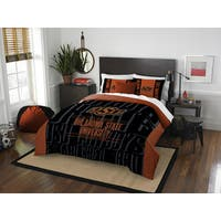 The Northwest Company COL 849 Oklahoma State Modern Take Polyester Full/Queen 3-piece Comforter Set