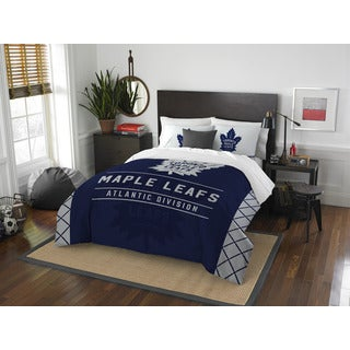 The Northwest Company NHL Toronto Maple Leafs Draft Full/Queen 3-piece Comforter Set