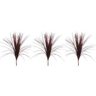 Red Plastic 28-inch Glitter Grass Bush Christmas Sprays (Pack of 3)