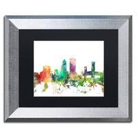 Marlene Watson 'Jacksonville Florida Skyline SP' Matted Framed Art