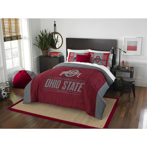 The Northwest Co COL 849 Ohio State Modern Take Full/Queen 3-piece Comforter Set (As Is Item)