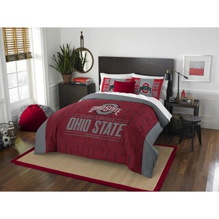 The Northwest Co COL 849 Ohio State Modern Take Full/Queen 3-piece Comforter Set