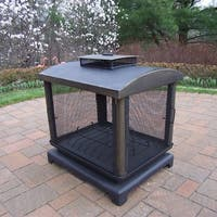 Wrought Iron 360 View Fire Place, with Spark Guard Screens, and Door